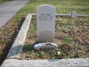 A. W. Gould Replacement Headstone
