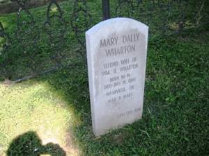 Tombstone of Mary Dally  Wharton