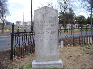 Restored Hogg Tombstone