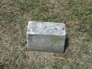 footstone for Elliott Family