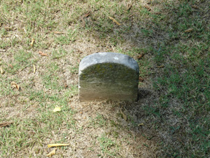 footstone for R.P. Miles Gallaghan