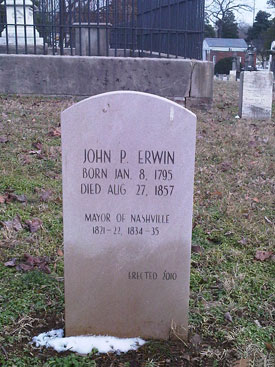 Erwin Replacement Tombstone
