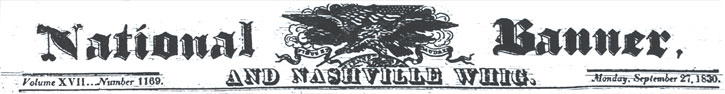 1830 Banner and Whig Masthead