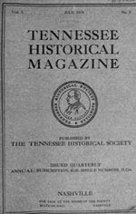 Cover of TN Historical Magazine featuring General Armstrong 1919
