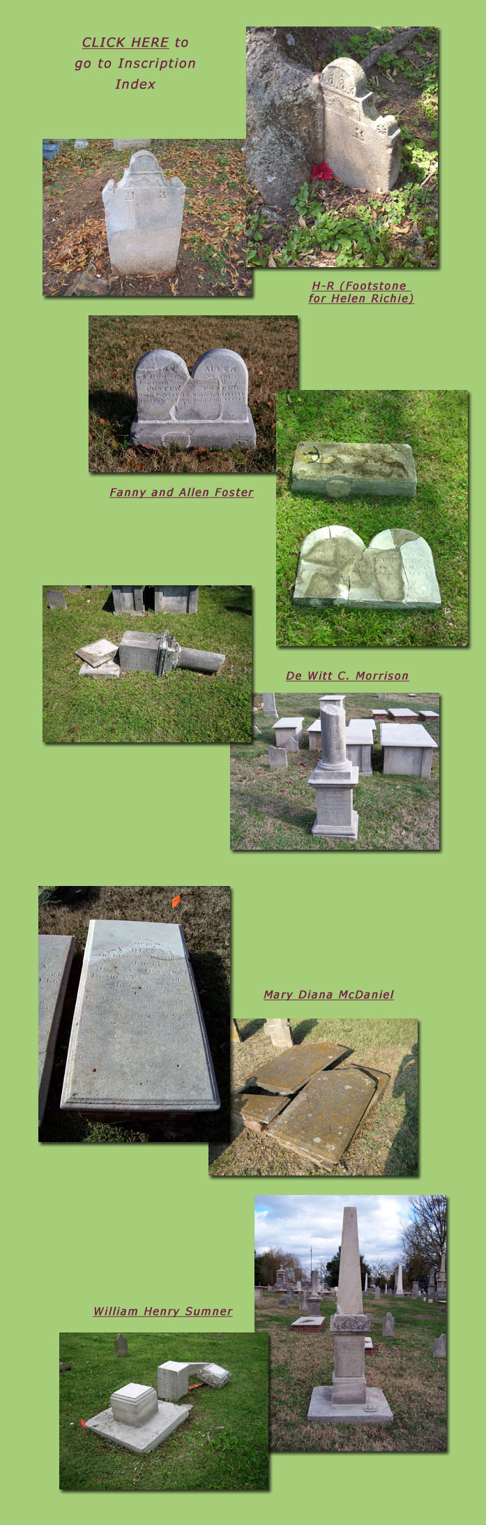 Before and After Tombstone Images