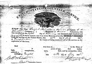 Daniel Birchett Mexican War Discharge