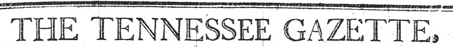 Tennessee Gazette Banner