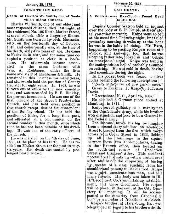 page 1 -1875 Obits