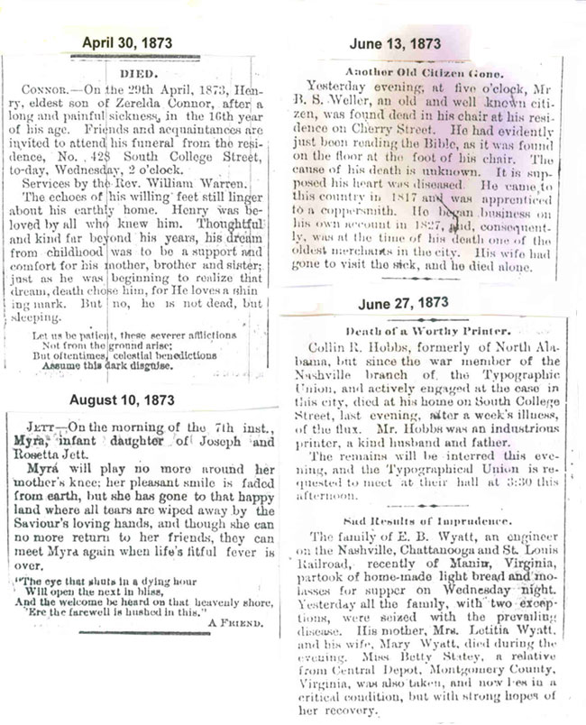 1873 Obituaries
