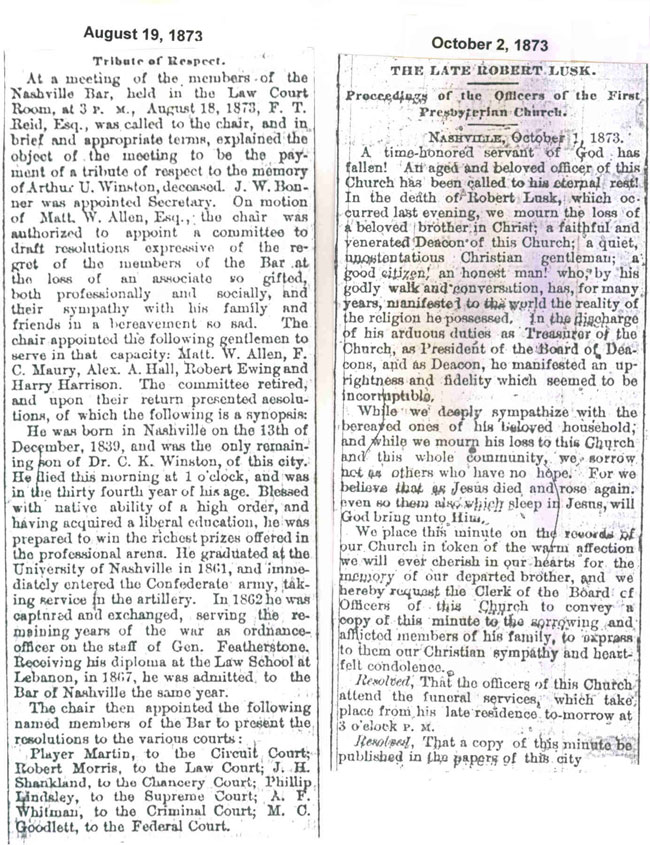 1873 Obituaries Page 2