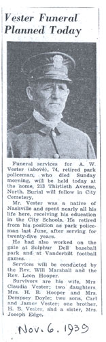Article on A. W. Vester