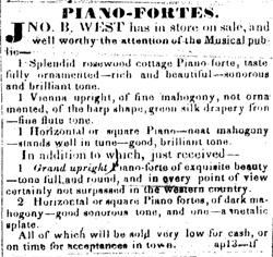 West Ad for Piano Forte